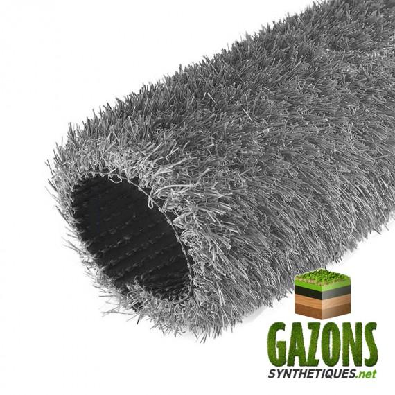 gazon synthétique gris