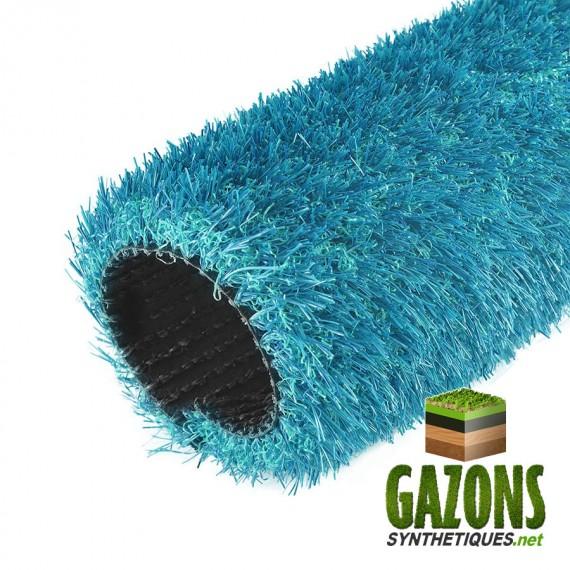 gazon synthétique bleu turquoise