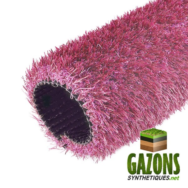 gazon synthétique rose 26mm