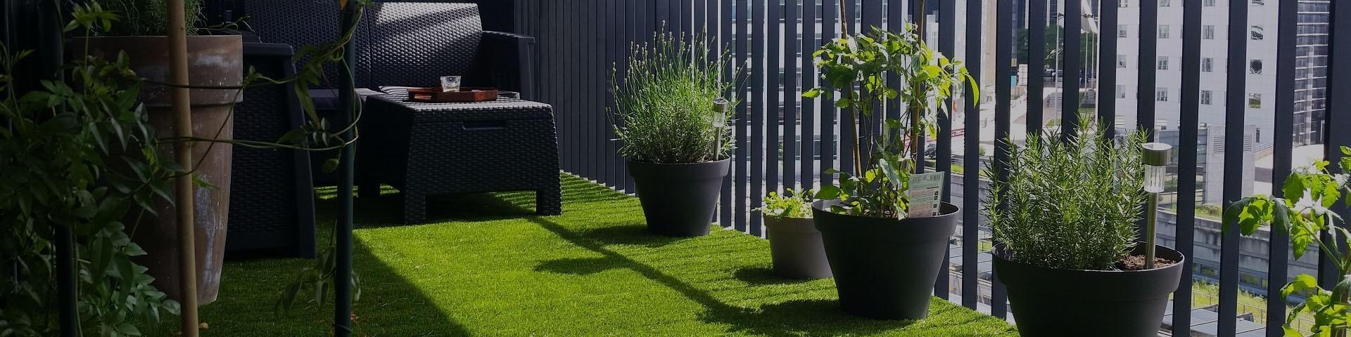 Achat de gazon synthétique pour terrasse, toit-terrasse et balcon