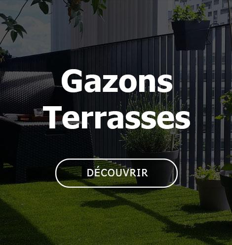 vente de pelouses synthétiques pour terrasses, balcons et toits-terrasses